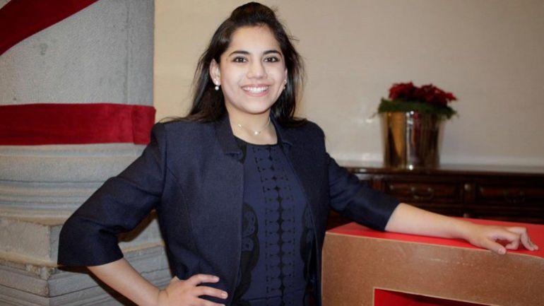 La mexicana más joven en ir a Harvard, Dafne Almazán