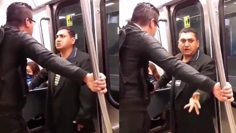 [VIDEO] Descubren a presunto acosador en el Metro