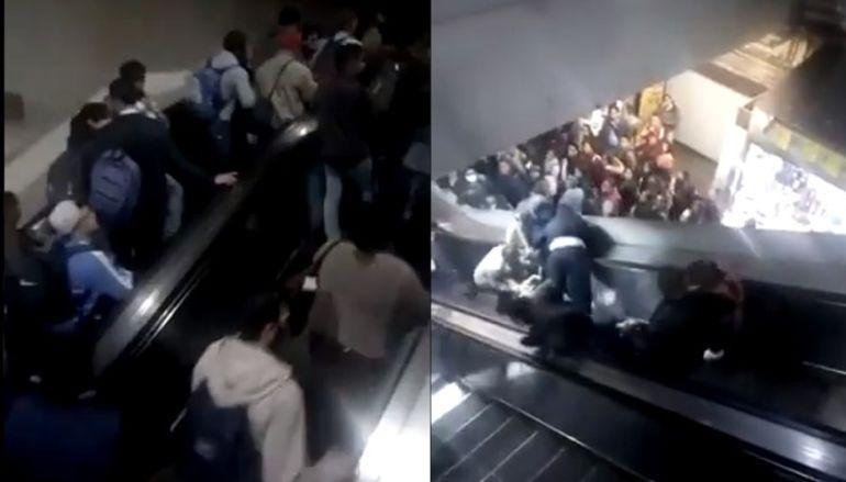 Colapso de escaleras en Metro Tacubaya deja 2 heridos