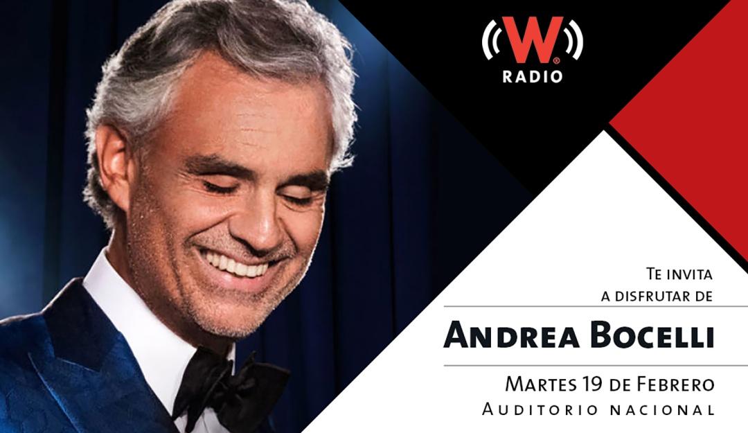 W RADIO tiene tus invitaciones para disfrutar de Andrea Bocelli