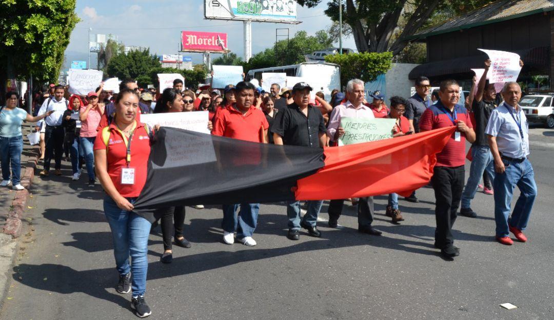Paro de labores en la Fiscalía General de Morelos