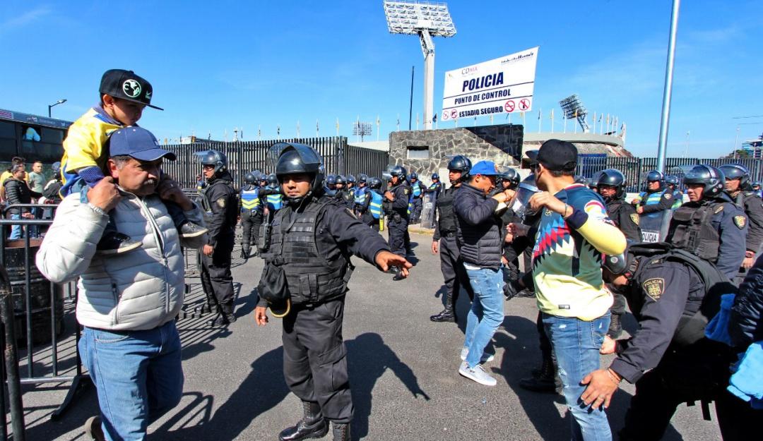 Alista Policía capitalina operativo por partido Pumas-América