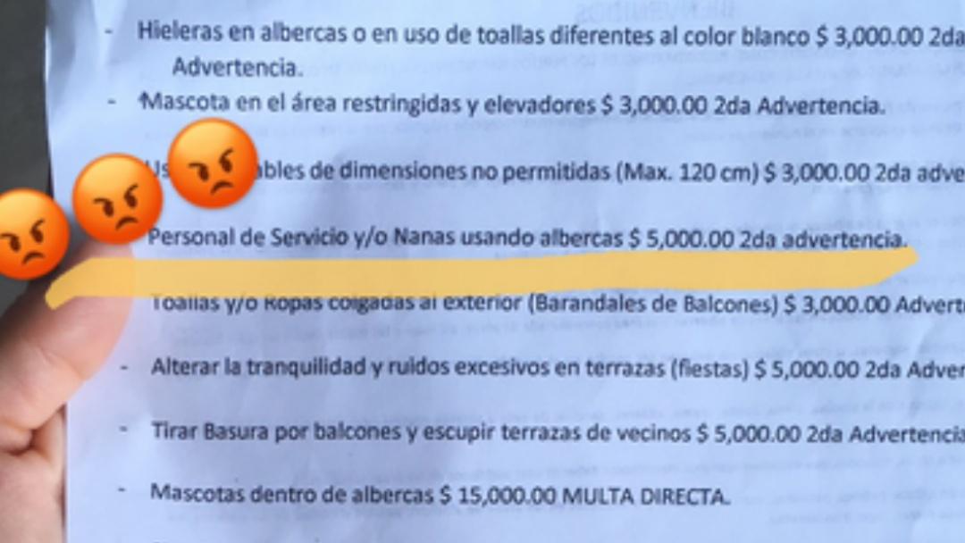 """Residencial de Acapulco impone multas por dejar nadar a """"nanas"""" en alberca"""