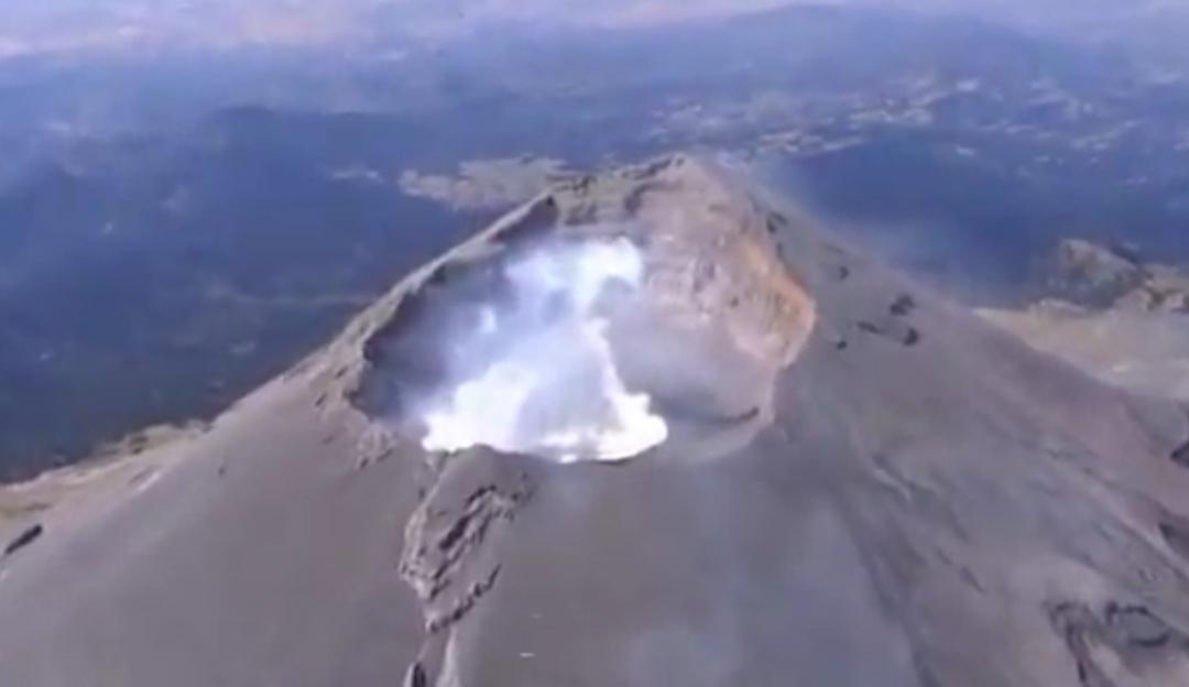 [VIDEO] Se forma nuevo domo en el cráter del Popocatépetl