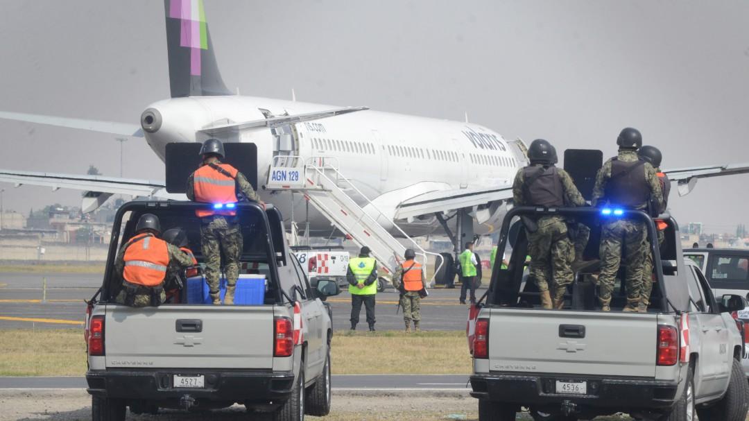 Amenaza de bomba en el AICM, falsa alarma en aeronave de Volaris
