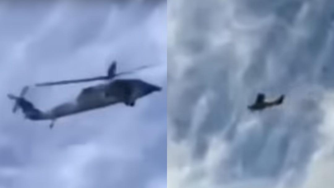 Persecución de película: captan aeronave de Marina tras avioneta en Sinaloa