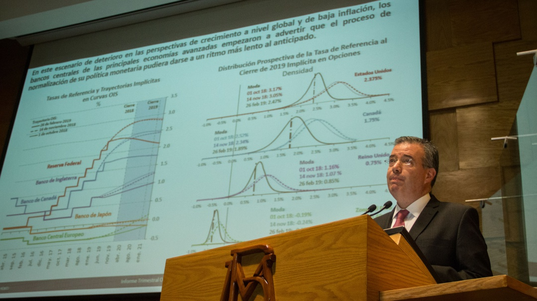 Recorta Banxico su estimación de crecimiento para 2019 y 2020