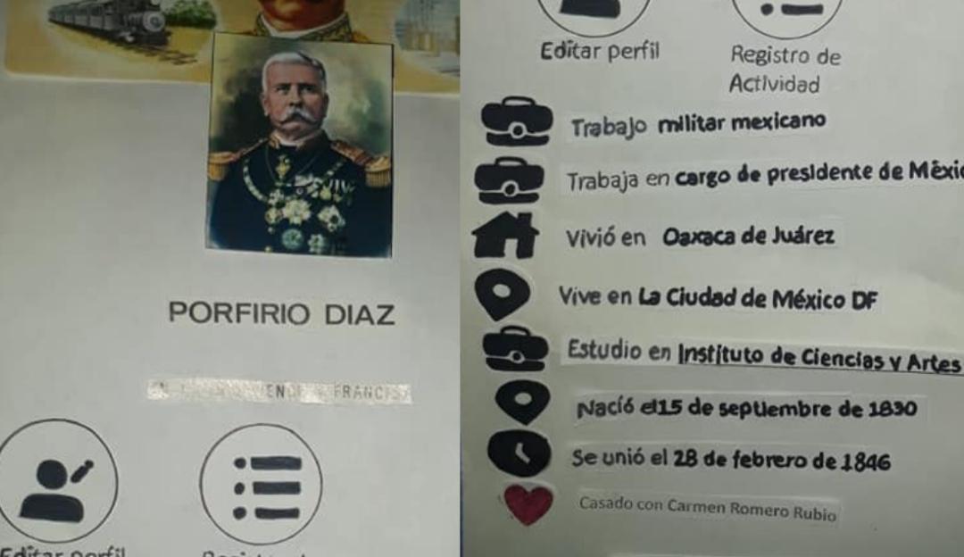 Tenga su like: biografía de Porfirio Díaz estilo Facebook se vuelve viral