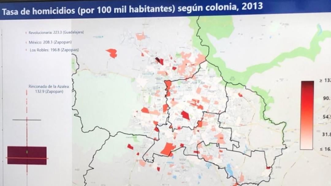 Presentan mapa de homicidios en ZMG