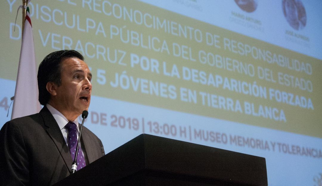 Veracruz ofrece disculpa por desaparición de jóvenes en Tierra Blanca