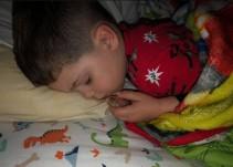 Niño sacó a su pecesito para dormir con él, sin saber que hacía lo peor
