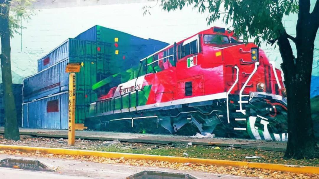 Presentan murales en Av. Washington en las vías del ferrocarril