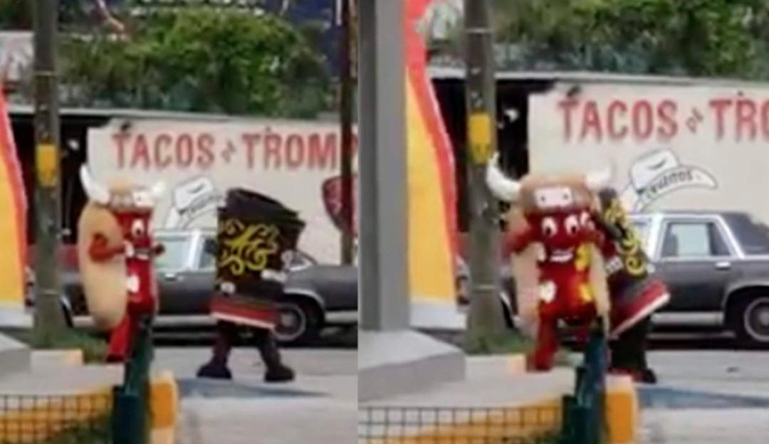 Hay tiro Carlitos: la pelea de un hot dog y un café que se ha vuelto viral