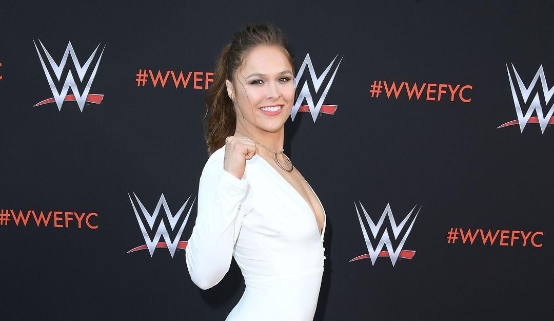 Ronda Rousey en un acto de la WWE