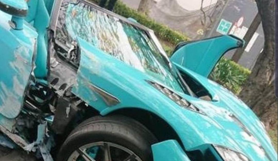 Revelan video de cómo chocó el Koenigsegg en Lomas de Chapultepec