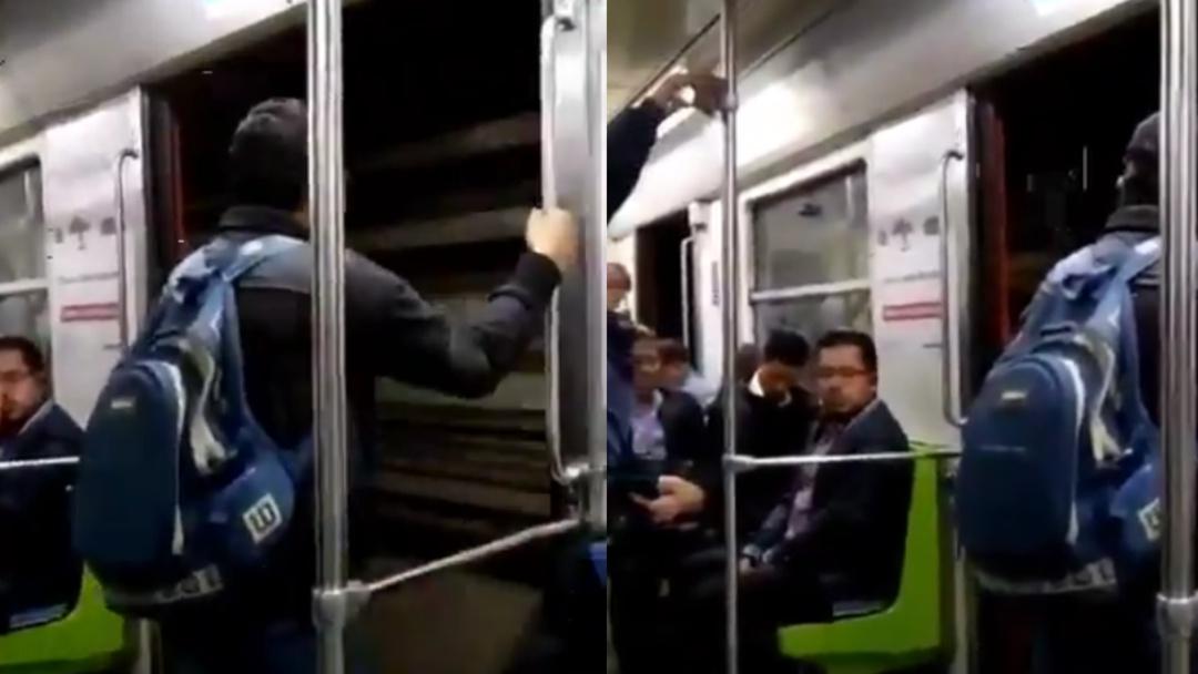 Se les olvidó cerrar las puertas; así viajaron en el Metro de la Línea 3