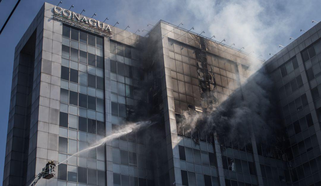 incendio, Conagua, Sheinbaum: Sheinbaum: Se revisarán condiciones de edificio de Conagua tras incendio