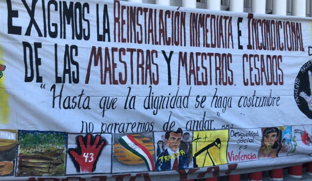 Movimiento Magisterial protesta por la reforma educativa