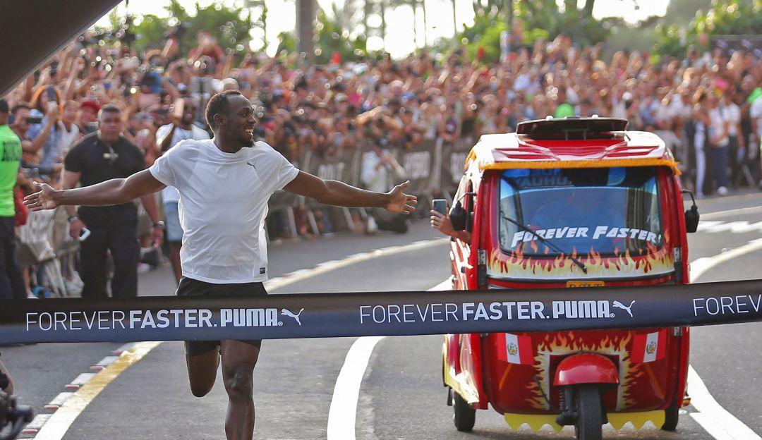 Usain Bolt contra el Moto taxi