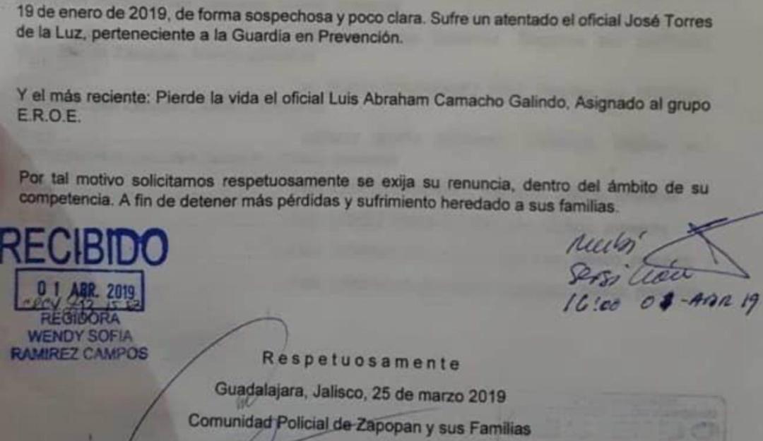 Policías zapopanos exigirían renuncia del comisario; Pablo Lemus desmiente