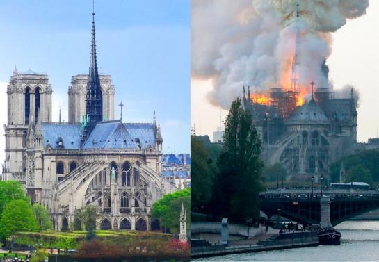El antes y el después de la Catedral de Notre Dame