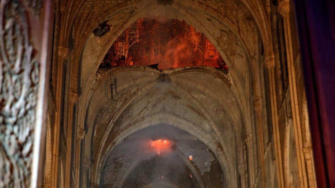 Primeras imágenes del interior de la Catedral de Notre Dame tras incendio