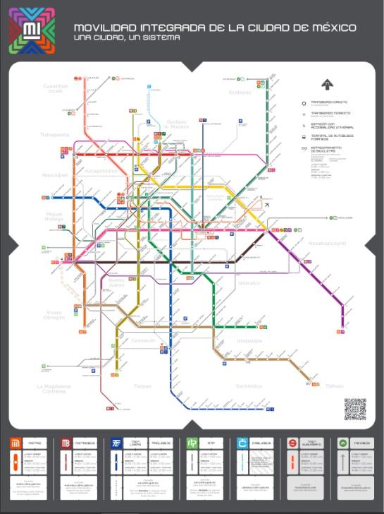 Mapa de movilidad del transporte público completo de la CDMX ¡Nuevo!