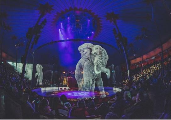 Circo con hologramas de animales en Alemania ¡Nueva Tendencia!