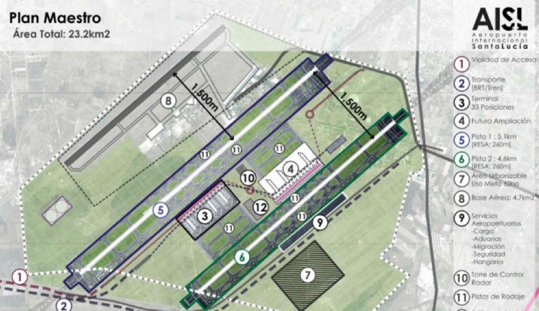 Se les cruzó un cerro; Aeropuerto de Santa Lucía costará 8 mil 215 mdp más