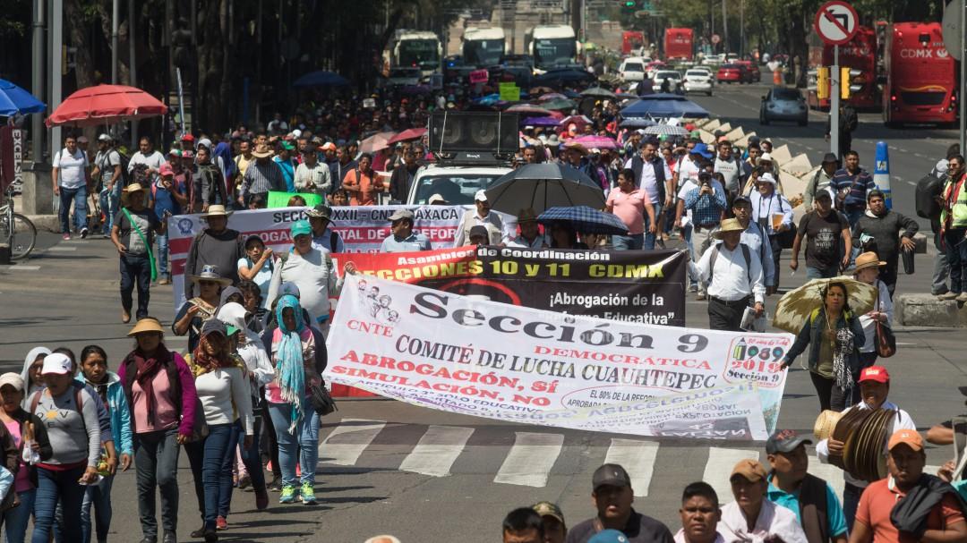 Anuncia CNTE paro de labores nacional en rechazo a la Reforma Educativa