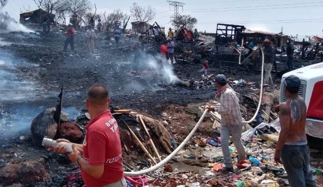 Incendio en el vertedero de Matatlán