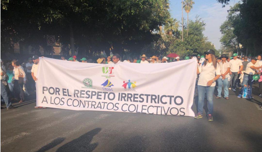 Sindicatos marchan en ZMG