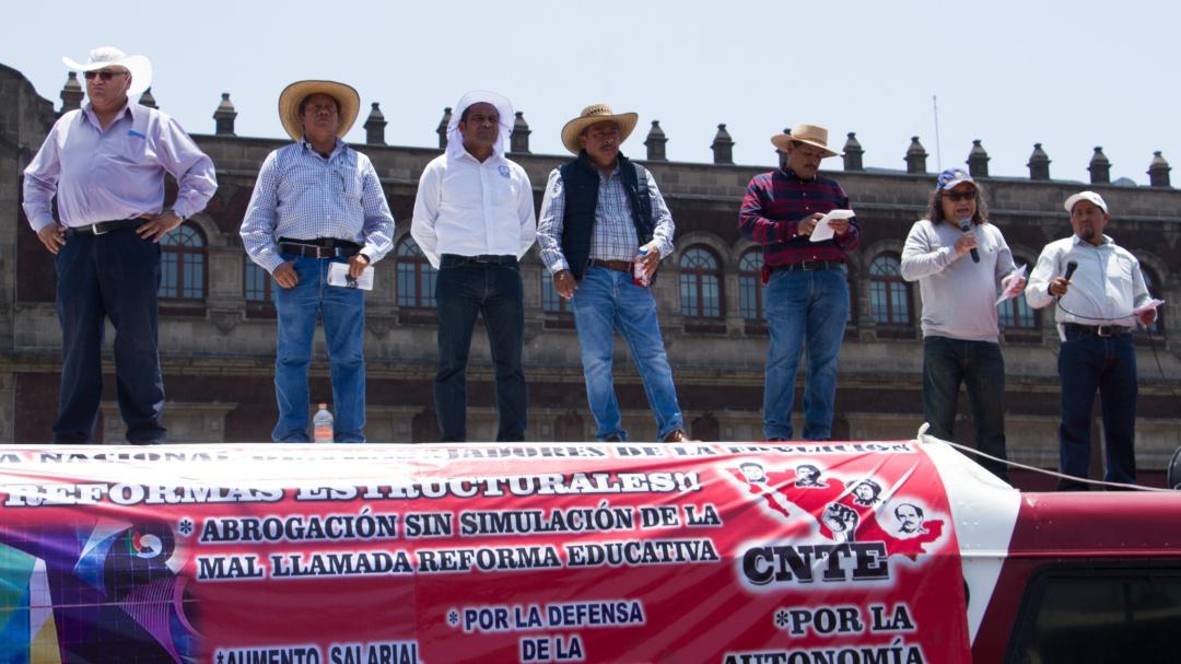 Abrogación de la Reforma Educativa será en las calles: CNTE