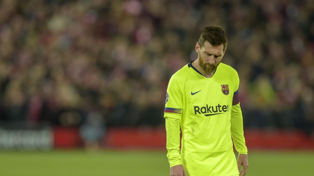 Lionel Messi lloró al ser eliminado de la Champions League