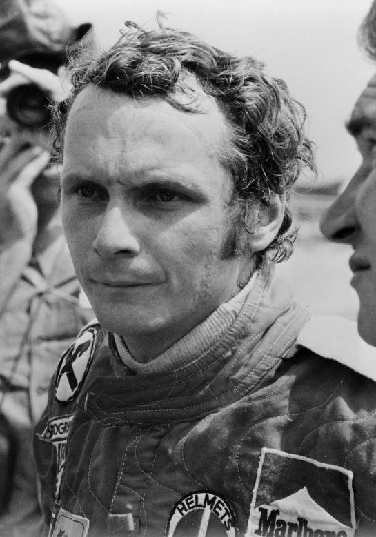 Niki Lauda un año antes de su accidente