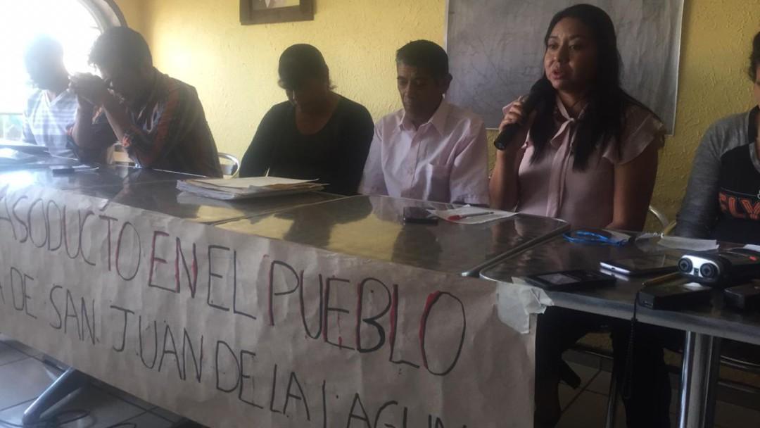 """No queremos gas natural"", reclaman pobladores de San Juan de la Laguna"