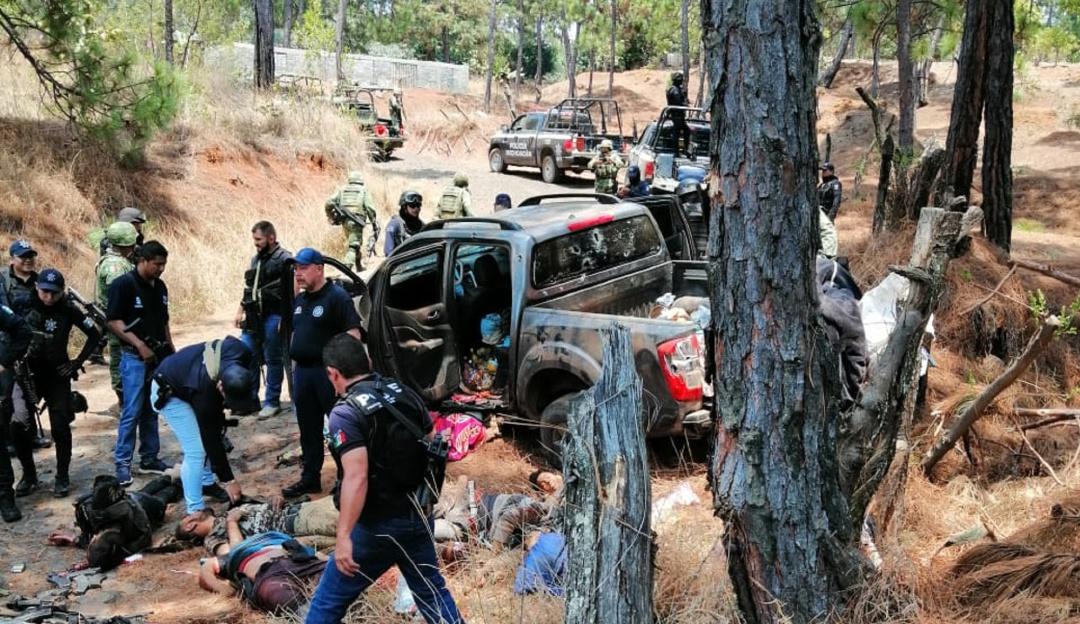 Enfrentamiento deja 10 muertos en Michoacán