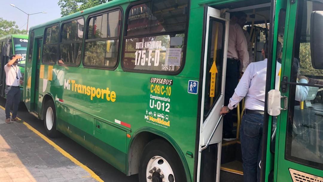 Arrancan nuevas rutas Mi Transporte con tarifa de 9.50 pesos