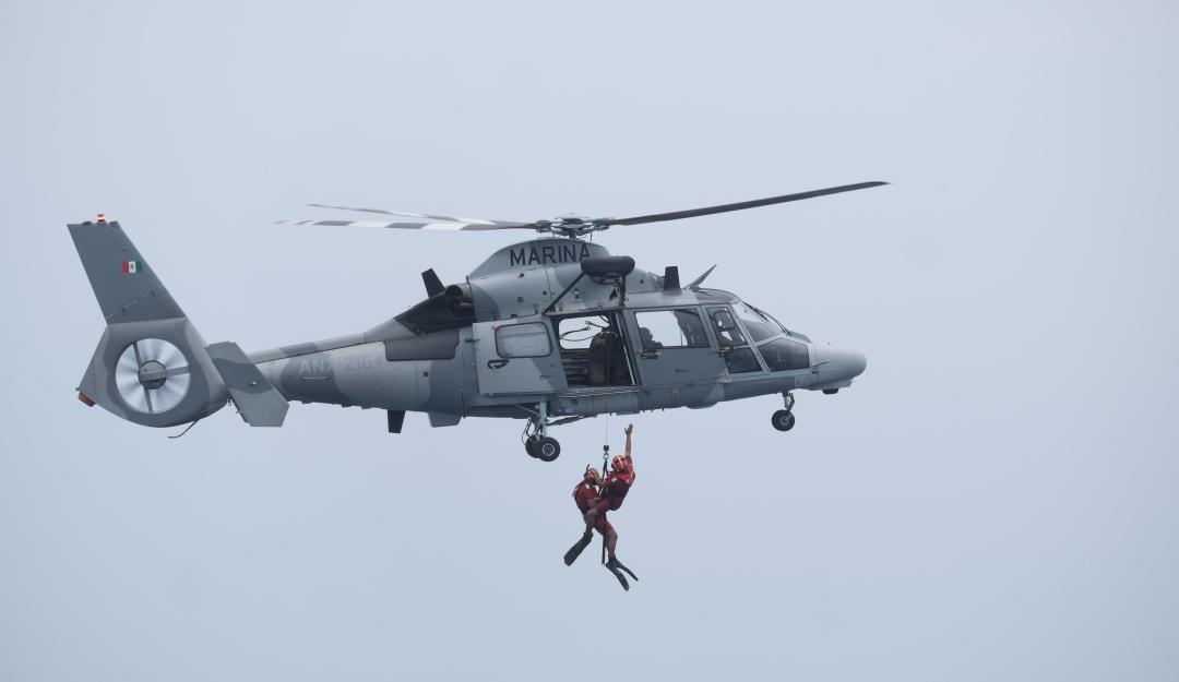 Localiza Semar a elementos accidentados en caída de helicóptero
