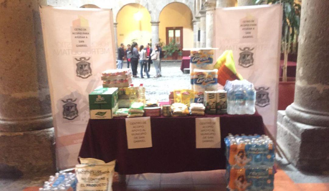 Abren centros de acopio en apoyo a los damnificados de San Gabriel