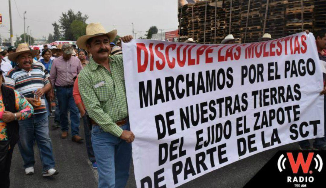Ejidatarios de El Zapote reanudarán marchas y plantones