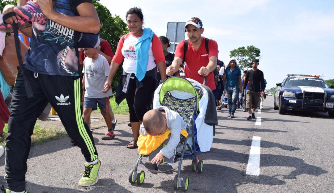 Llega otra caravana migrante a México