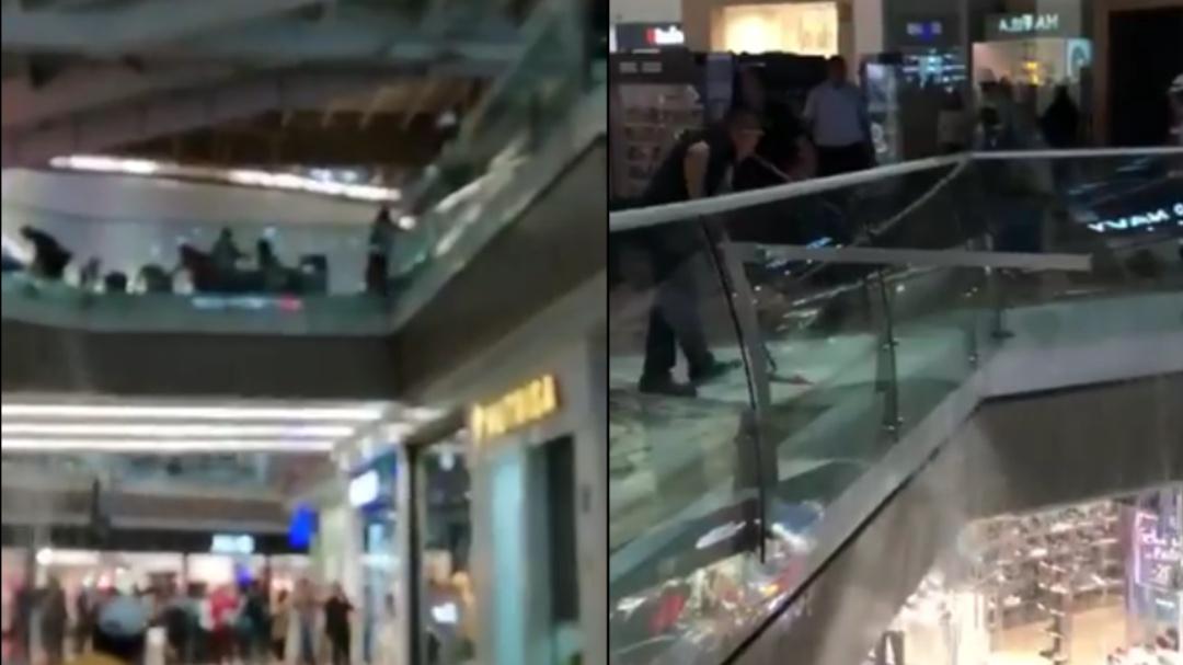 Así se inundó el centro comercial Perisur de la Ciudad de México