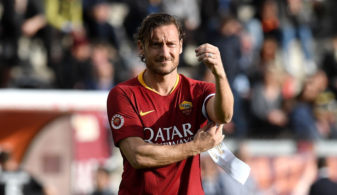 Francesco Totti le dijo adiós a la Roma.