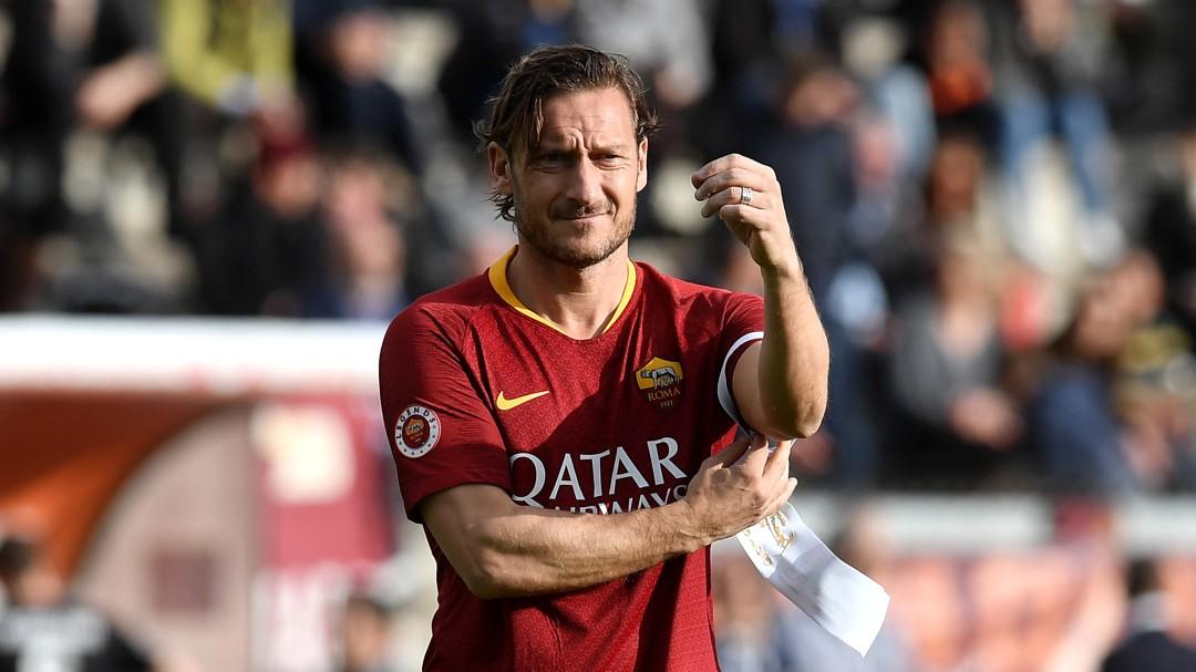 Totti se despidió de la Roma