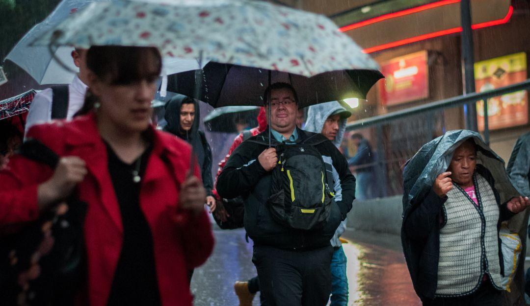 Continuarán las lluvias en la CDMX