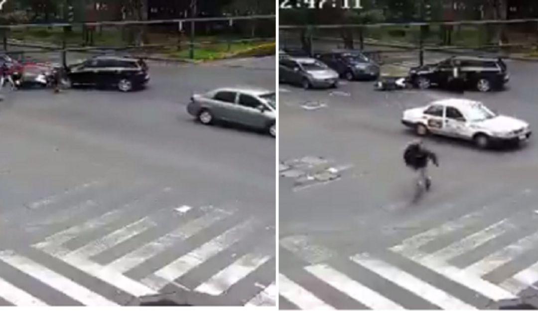 Como pollitos en fuga; conductores persiguen a presuntos ladrones