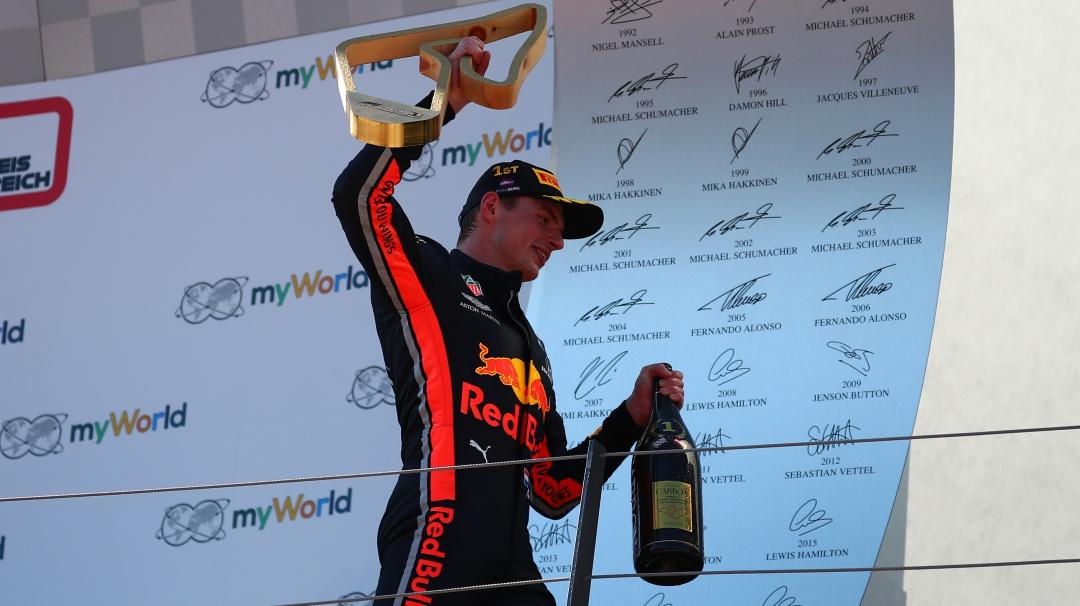 Max Verstappen ganá el Gran Premio de Austria