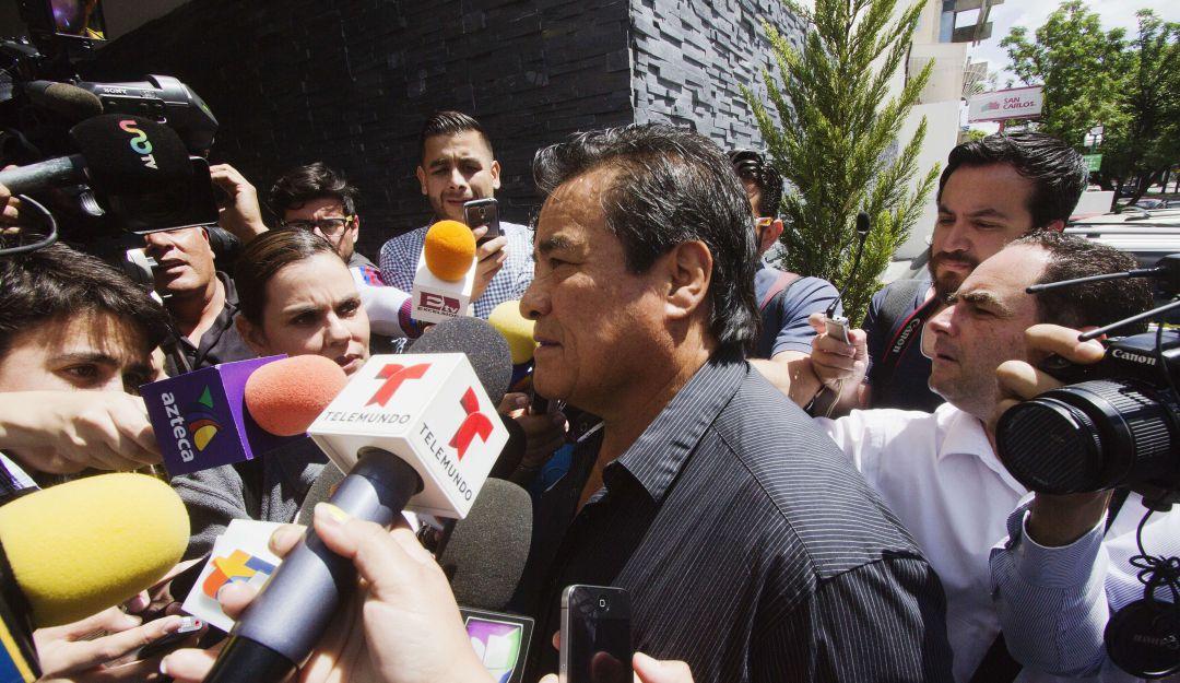 """El """"Perro"""" Aguayo"""" siendo entrevistado"""