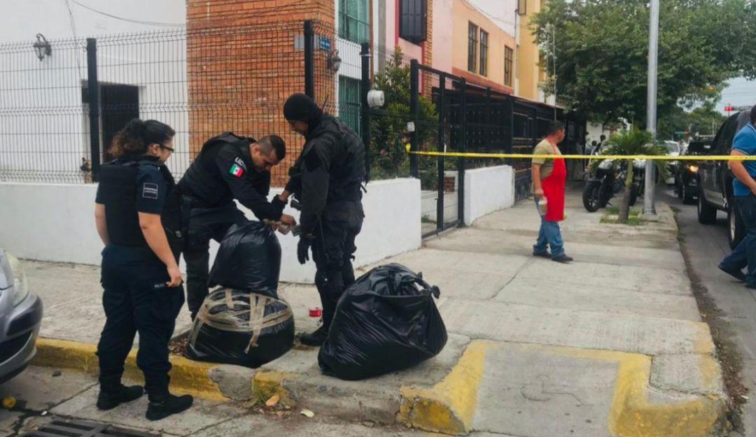 Abandonan bolsas con 40 kg de marihuana en plena calle